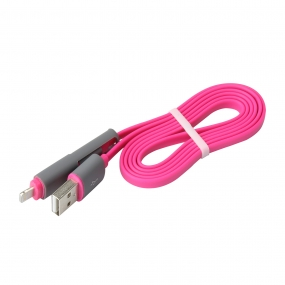 Android / iPhone 2-in-1 Charging Cable Flat lightning cable