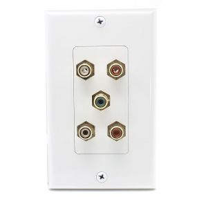 5 Port RCA jack connector Home Theater system Wall plate For USA