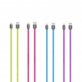 Colorful Micro USB Cable Quick Charge and High Speed Data Sync for Android/Samsung/HTC and More