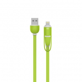 USB Link Data & Charging Cable Sync Lightning Support Iphone6/6s and Android SmartPhone-Green