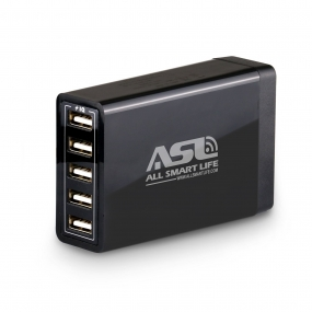 AllSmartLife 40W 8-Amp 5-Port USB Charger Smart Travel Charger Smart IC Wall Adapter Fast Charging