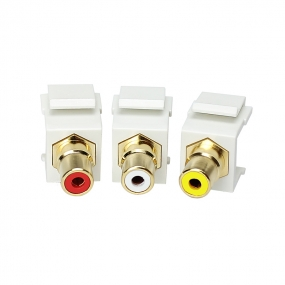Custom and Design RCA Keystone Insert Component Video, 3 per Pack