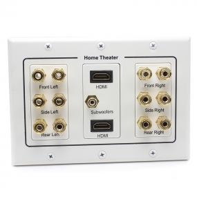 Home Theater Wall Plate, 12 Port Banana Binding Post +2 PORT HDMI+1Port RCA JAck speaker  Wall plate