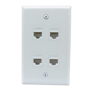New 4 Port Cat5e Female-Female Wall Plates