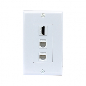 Combination design 1 Port HDMI 2 Port Cat5e Ethernet Decora Wall Plate Decora