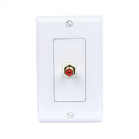 Decora Wall Plate Insert RCA Stereo Couplers Red 1 RCA Female