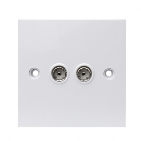 9.5 tv  Double Port Tv Wall Socket AV Wall Plate For UK
