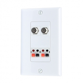 Home Improvement 2 Port Coax Cable TV F Type 2 port Speaker Wall Plates