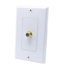 1 Port F jack Connector Home Theater system Wall plate For USA