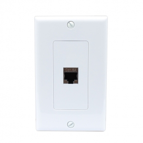 New easy installation CAT 6A 1 Port Shielded Cat6A Wall Plate 1 Gang Decorative White