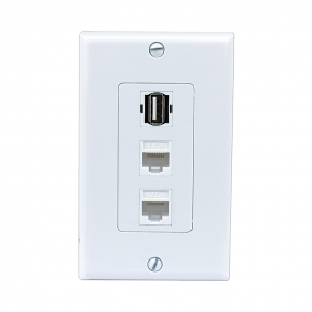 The new combination 2 port CAT6 and 1 port USB wall outlet