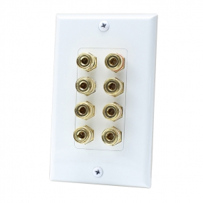 8 Port Binding Post Home Theater system Wall plate For USA