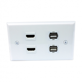 Multi Panel include 2 port HDMI and 2 port USB wall plates