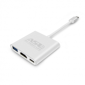 Allsmartlife USB-C Digital AV Multiport Adapter USB Type C to HDMI 4K Converter USB-C to HDMI and USB with Power Delivery