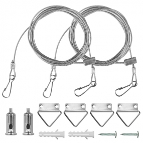 AllSmartLife Light Suspension Kit, LED panel light Suspension Kit Adjustable Wire Suspension Kit with Mounting Hardware