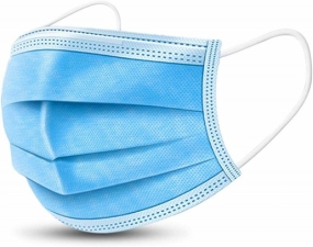 Allsmartlife Disposable Surgical Mask Dust Breathable Earloop Antiviral Face Mask, Comfortable Medical Sanitary Surgical Mask Thick 3-Layer Masks 10PCS